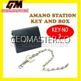 AMANO PR 600 WATCHMAN CLOCK STATION KEY AND BOX (NO-1)