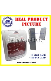 LOCAL GEOMASTER 360A ANALOG PUNCH CARD MACHINE TIME RECORDER II