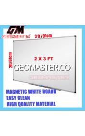 HIGH QUALITY Magnetic White Board WHITEBOARD (60cm x 90 cm)-  2 x 3 ruler II