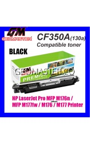 HP 130a / CF350A / 130A Black High Quality Compatible Colour Laser Toner Cartridge For HP LaserJet Pro MFP M176n / MFP M177fw / M176 / M177 Printer