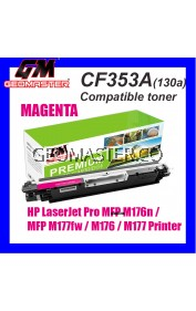 Compatible Laser Toner HP CF353A / 130A Magenta High Quality Compatible Toner Cartridge For LaserJet Pro MFP M176n / MFP M177fw / M176 / M177 Printer