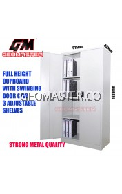 GM Full Height Cabinet Cupboard come with 3 Adjustable Shelves and Steel Swinging Door