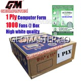 GM 1 PLY COMPUTER FORM - (1000 FANS)