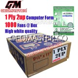 GM 1 PLY 2UP COMPUTER FORM - (1000 FANS)