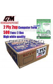GM 2 PLY 2UP COMPUTER FORM (500 FANS)