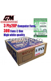 GM 3 PLY 2UP COMPUTER FORM (300 FANS)