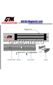 GEOMASTER ELECTRIC MAGNETIC DOOR LOCK EMLOCK 600LBS FOR DOOR ACCESS (EM600)