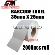 Barcode Label 35mm X 25mm (2000pcs) - Thermal barcode label sticker