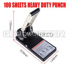 GEOMASTER 0100 PUNCHER -2 HOLE HEAVY DUTY PUNCHER -100 Sheets + Free Spare Punching Mat