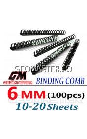 Comb Binder Rings / Plastic Comb Rings / Binding Rings / Binding Comb Rings 6mm Black - 100Pcs/Box