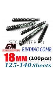 Comb Binder Rings / Plastic Comb Rings / Binding Rings / Binding Comb Rings 18mm Black - 100Pcs/Box