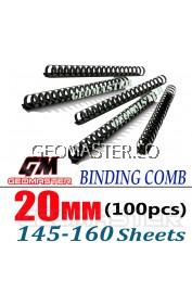Comb Binder Rings / Plastic Comb Rings / Binding Rings / Binding Comb Rings 20mm Black - 100Pcs/Box