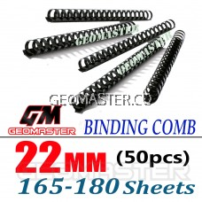 Comb Binder Rings / Plastic Comb Rings / Binding Rings / Binding Comb Rings 22mm Black - 50Pcs/Box