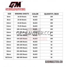 Comb Binder Rings / Plastic Comb Rings / Binding Rings / Binding Comb Rings 25mm Black - 50Pcs/Box