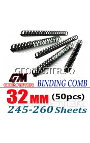 Comb Binder Rings / Plastic Comb Rings / Binding Rings / Binding Comb Rings 32mm Black - 50Pcs/Box