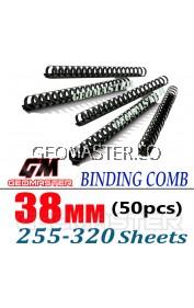 Comb Binder Rings / Plastic Comb Rings / Binding Rings / Binding Comb Rings 38mm Black - 50Pcs/Box