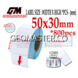 50 x 30 mm Barcode Sticker Thermal Price Label Product Label Sticker Paper Stock Ready 50 x 30 mm