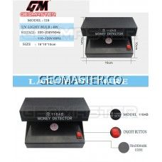 GEOMASTER 110-220V UV Light Counterfeit Money Detector Checker with ON/OFF Switch EU