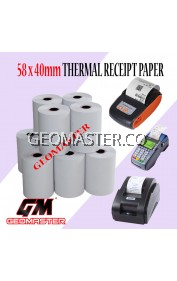 Thermal Paper Receipt Rolls Receipt Paper Cash Register Receipt Kertas Resit Cashier Kertas Printer 58x40mmMM
