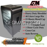 GEOMASTER MASTER GRAND SUPER HEAVY DUTY  PAPER SHREDDER - LARGE SHREDDER