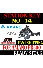 AMANO WATCHMAN CLOCK STATION KEY NO 14 - AMANO KEY
