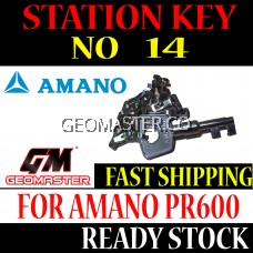 AMANO WATCHMAN CLOCK STATION KEY NO 14 - AMANO KEY