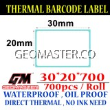 30 x 20 mm Barcode Sticker Thermal Price Label Product Label Sticker Paper Stock Ready 30 x 20 mm
