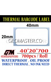 40 x 20 mm Barcode Sticker Thermal Price Label Product Label Sticker Paper Stock Ready 40 x 20 mm