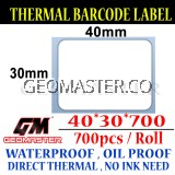 Promo 40 x 30 mm Barcode Sticker Thermal Price Label Product Label Sticker Paper Stock Ready 40 x 30 mm