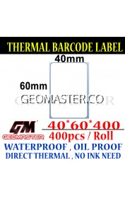 40 x 60 mm Barcode Sticker Thermal Price Label Product Label Sticker Paper Stock Ready 40 x 60 mm
