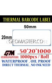 50 x 20 mm Barcode Sticker Thermal Price Label Product Label Sticker Paper Stock Ready 50 x 20 mm
