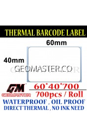Promo 60 x 40 mm Barcode Sticker Thermal Price Label Product Label Sticker Paper Stock Ready 60 x 40 mm