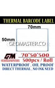 70 x 50 mm Barcode Sticker Thermal Price Label Product Label Sticker Paper Stock Ready 70 x 50 mm
