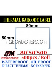 80 x 50 mm Barcode Sticker Thermal Price Label Product Label Sticker Paper Stock Ready 80 x 50 mm