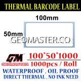 100 x 50 mm Barcode Sticker Thermal Price Label Product Label Sticker Paper Stock Ready 100 x 50 mm