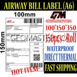 Promo 100 x 150 mm Barcode Sticker Thermal Price Label Product Label Sticker Paper Stock Ready 100 x 150 mm