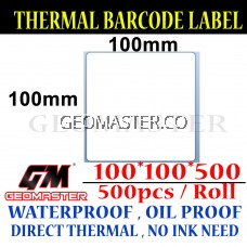 100 x 100 mm Barcode Sticker Thermal Price Label Product Label Sticker Paper Stock Ready 100 x 100 mm