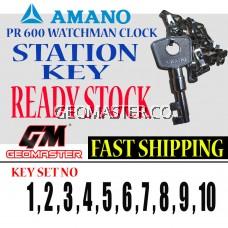 AMANO WATCHMAN CLOCK STATION KEY NO 17 - AMANO KEY
