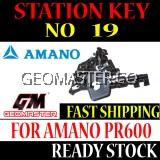AMANO WATCHMAN CLOCK STATION KEY NO 19 - AMANO KEY