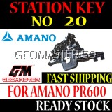 AMANO WATCHMAN CLOCK STATION KEY NO 20 - AMANO KEY