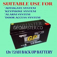 GPower 12V 7.2AH Rechargeable Seal Lead Acid Autogate / ALARM UPS Backup Battery