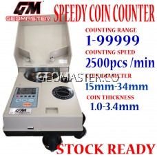 GEOMASTER Coin Sorter Counter and Roller Coin Sorter Coin Counter Coin Counting Machine with High Speed Coin Sorting Machine for Coins