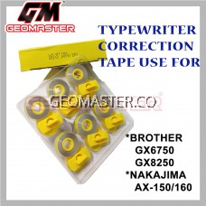 Typewriter Correction Tape , Typewriter Ribbon Compatible For Brother , Nakajima Typewriter