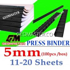 5mm Press Binder / Binding Strip / Lock Binder / Press Binding Comb / Binder Strip Black