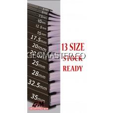 7.5mm Press Binder / Binding Strip / Lock Binder / Press Binding Comb / Binder Strip Black