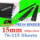 15mm Press Binder / Binding Strip / Lock Binder / Press Binding Comb / Binder Strip Black