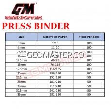 15mm Press Binder / Binding Strip / Lock Binder / Press Binding Comb / Binder Strip Black