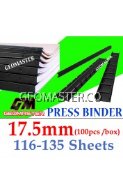 17.5mm Press Binder / Binding Strip / Lock Binder / Press Binding Comb / Binder Strip Black