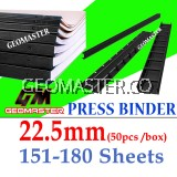 22.5mm Press Binder / Binding Strip / Lock Binder / Press Binding Comb / Binder Strip Black