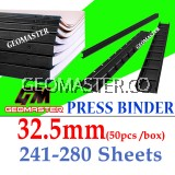 32.5mm Press Binder / Binding Strip / Lock Binder / Press Binding Comb / Binder Strip Black